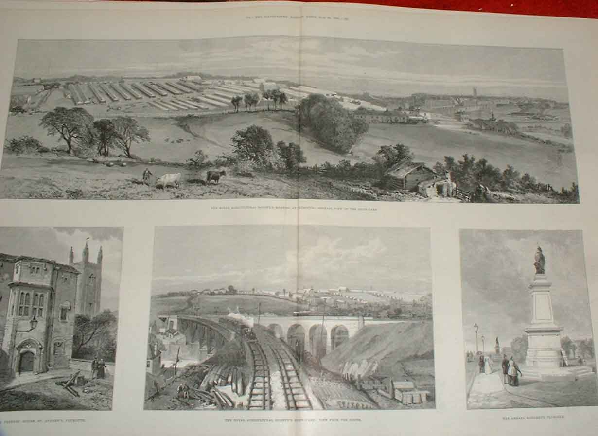 Print Views Plymouth 1890 Town & Show Ground 83Taaa0 Old Original
