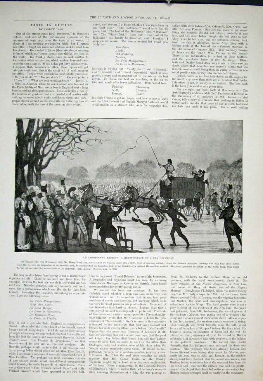 Print Matchless Blacking Van Horses Serpentine Frost Hunt 53Aaa0 Old Original