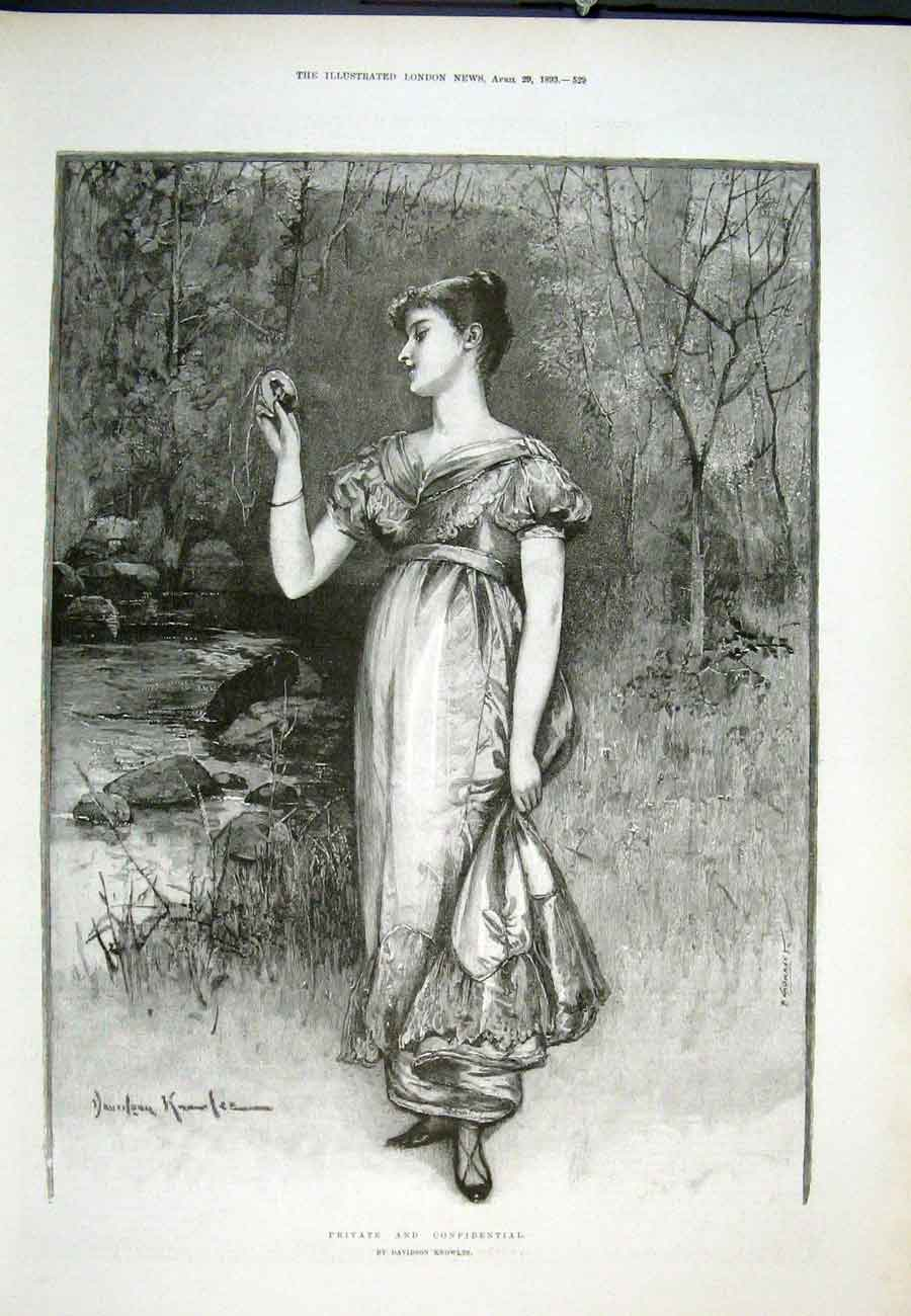 Print Privvate Confidential Davidson Knowles 1893 29Aaa0 Old Original