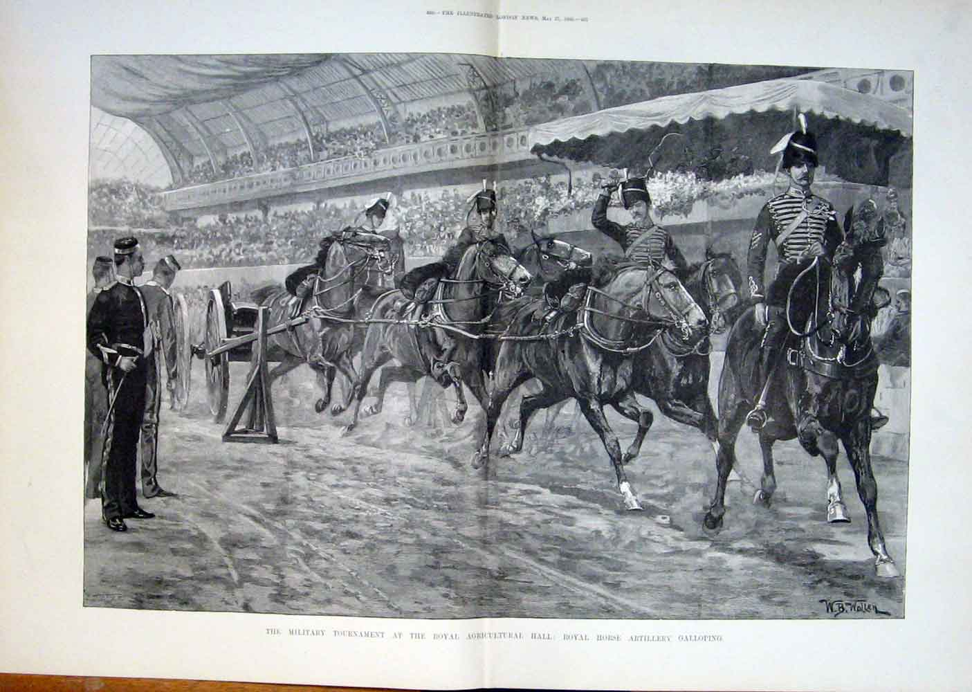 Print Military Tournament Royal Horse Agricultural Hall 1893 35Taaa0 Old Original