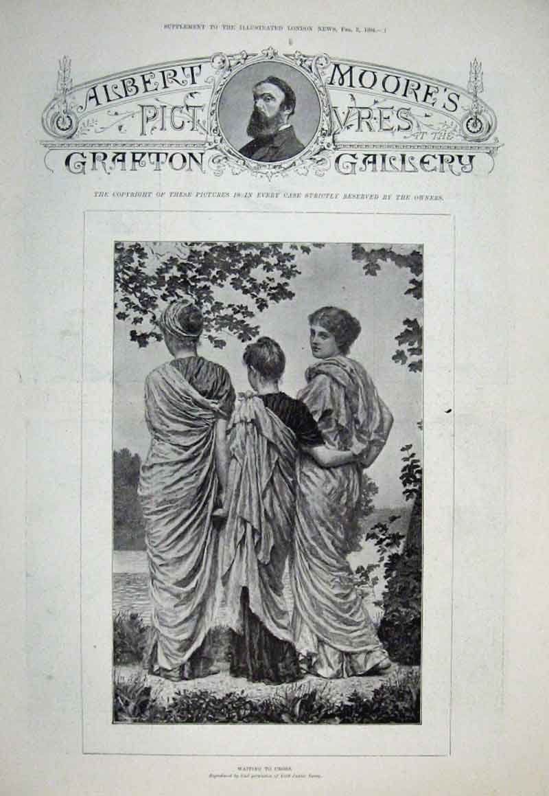 Print Albert Moores Grafton Galleries 1894 15 Pictur 01Aaaa0 Old Original