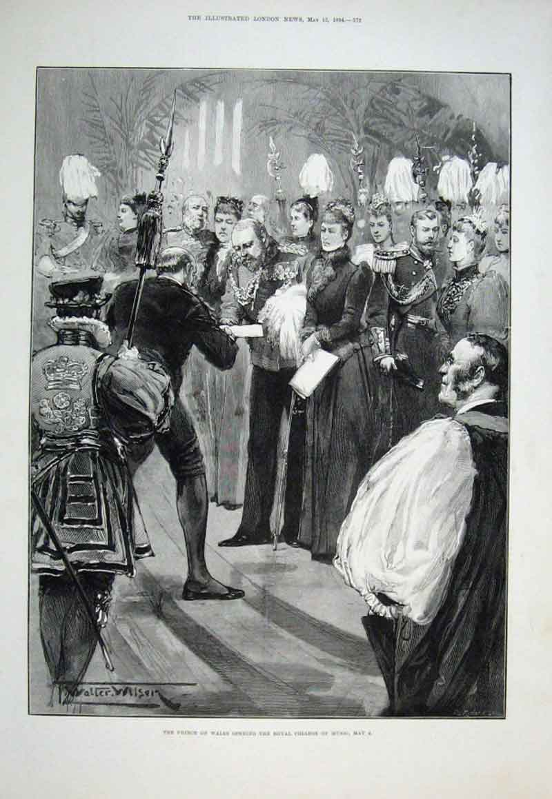 Print Opening Royal College Music May 2 1894 72Aaa0 Old Original