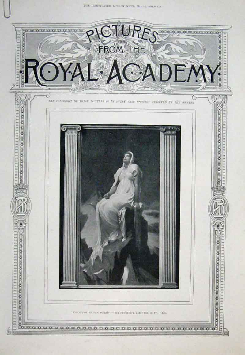 Print Royal Academy 1894 60 Pictures 79Aaaa0 Old Original