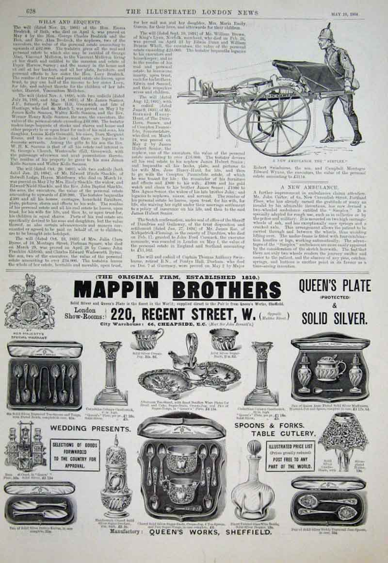 Print A New Ambulance The Simplex 1894 28Aaa0 Old Original
