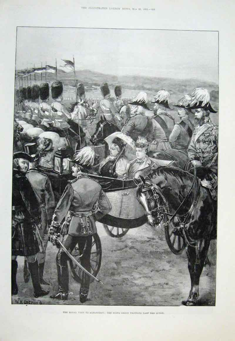 Print Scots Greys & Middlesex Yeomany On Parade 1894 55Aaaa0 Old Original