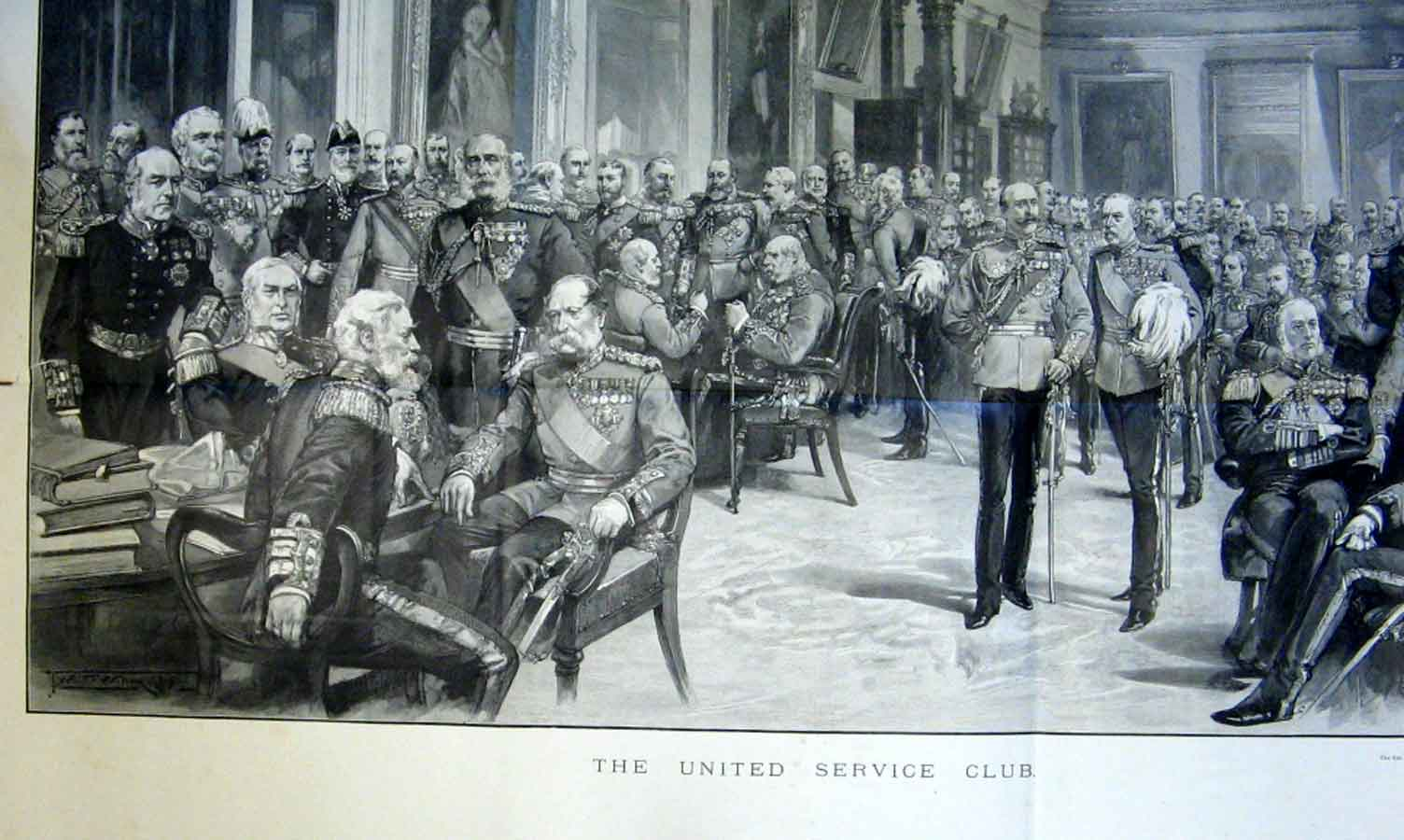 Print United Service Club London 1894 96Taaa0 Old Original