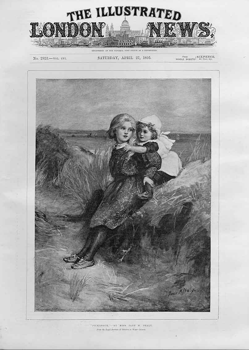 Print Pickaback By Miss Jane Dealy Fine Art 189 98Aaa0 Old Original