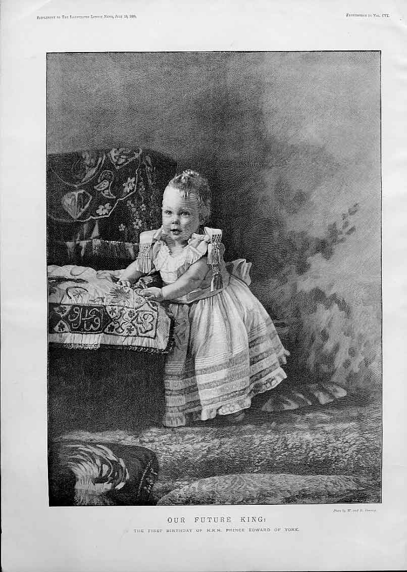 Print 1St Birthday Duke York 1895 63Aaa0 Old Original