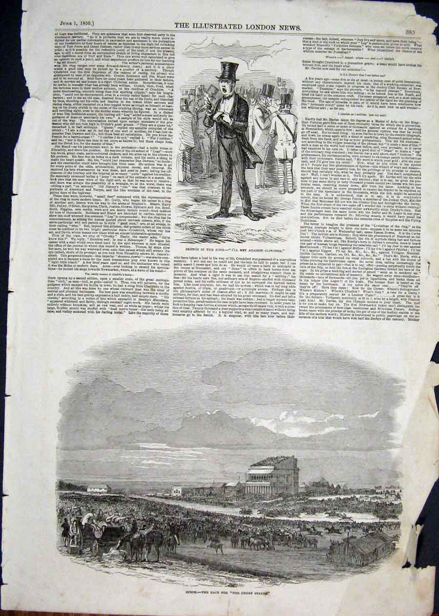 Print Epson Races Derby Stakes Horse Racing 1850 85Aaa1 Old Original