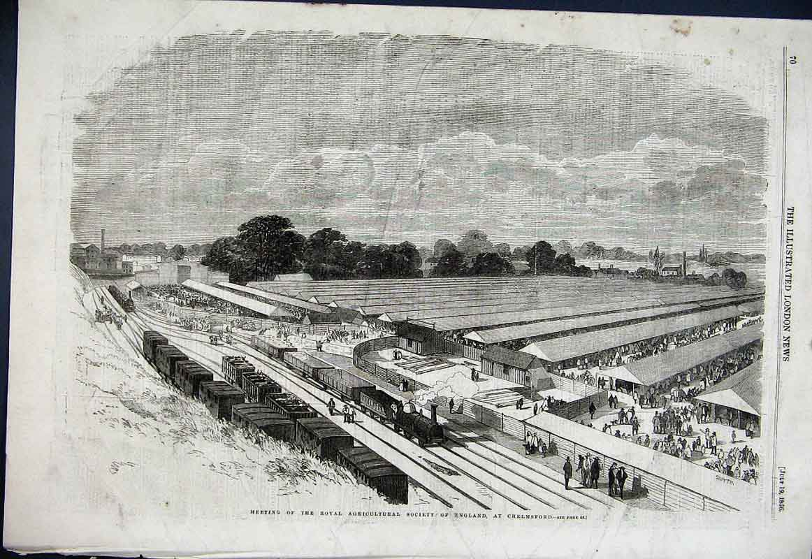 Print Chelmsford Essex Showground 1856 70Aaa1 Old Original