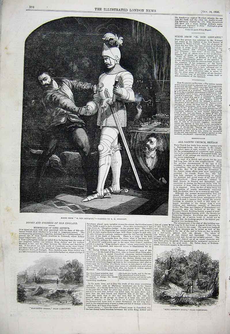 Print Scene From Il Don Giovanni 1856 94Aaa1 Old Original