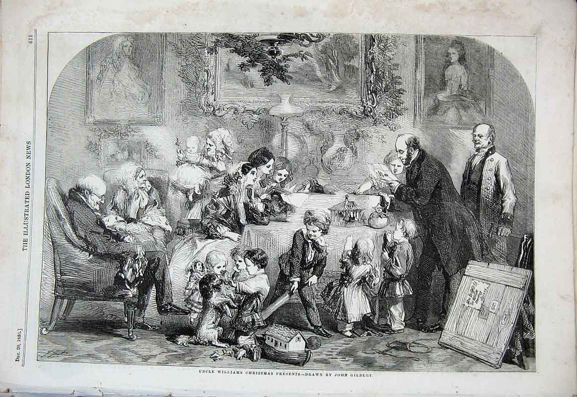Print Uncle William Christmas Presents By Gilbert Fine Art 18 11Aaa1 Old Original