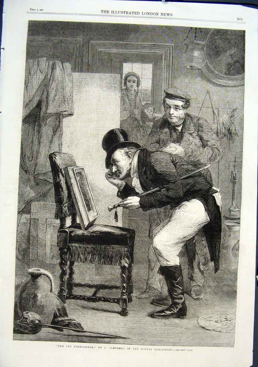 Print The Connoisseur By Campbell Fine Art 1863 65Aaa1 Old Original