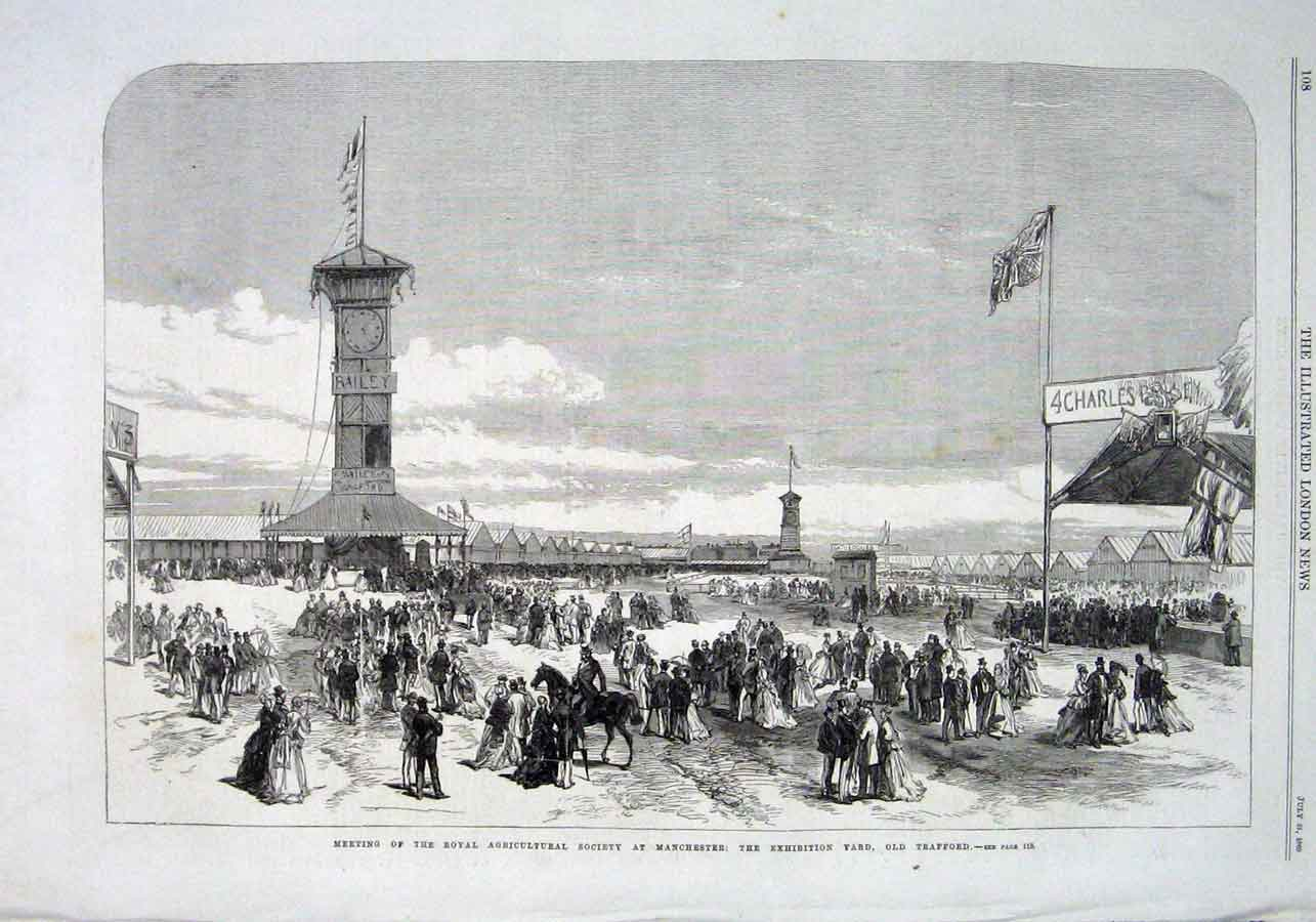 Print Ras Show Trafford Manchester 1869 08Aaa1 Old Original