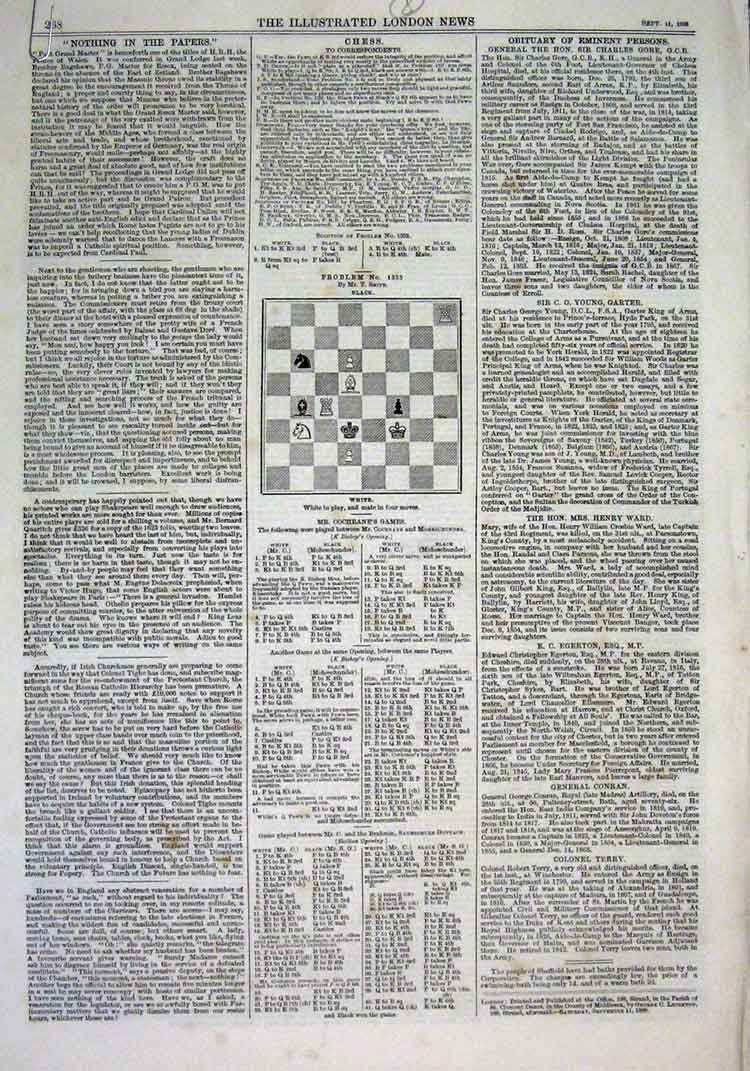 Print 8 Chess Problems & Solutions 1869 68Aaa1 Old Original
