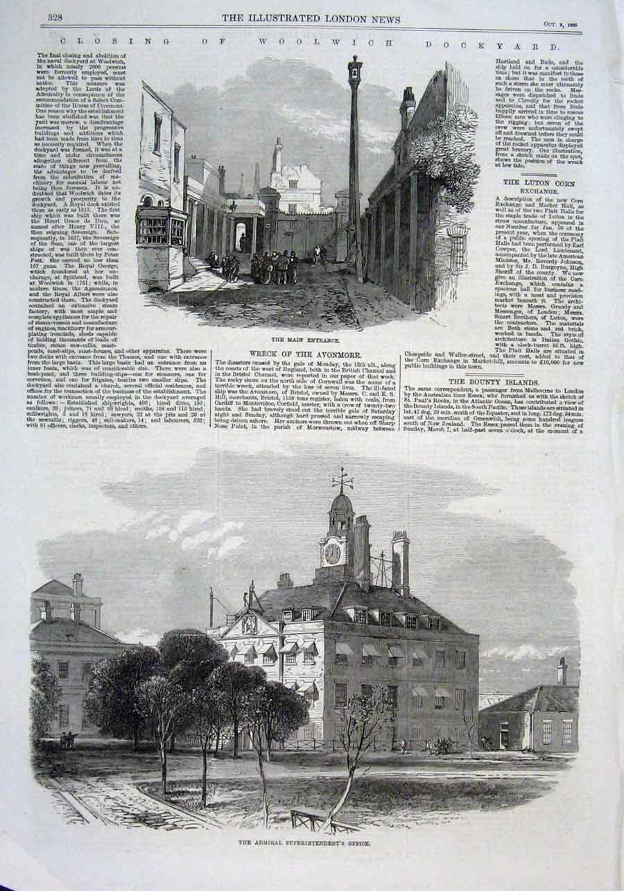 Print Closing Woolwich Dockyards 1869 28Aaa1 Old Original