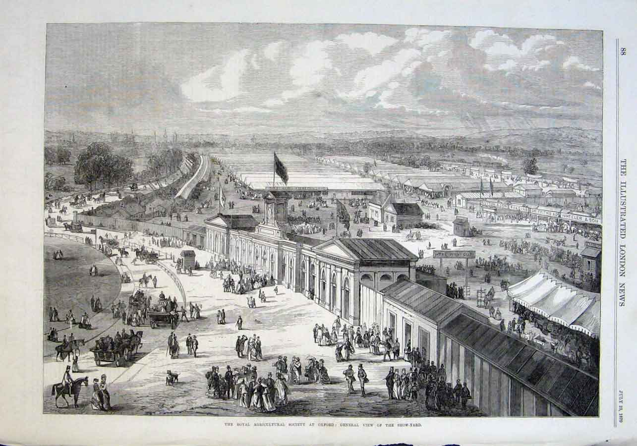 Print View Show Yard Ras Oxford 1870 88Aaa1 Old Original