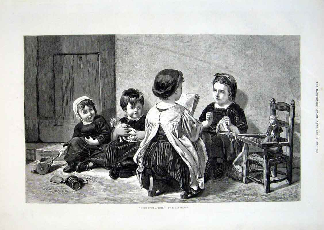 Print Once Upon A Time By Lobrichon Fine Art 1875 53Aaa1 Old Original