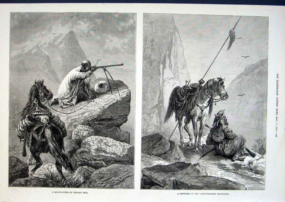 Print Mountainer Russia Asia Defender Zarovschansky Mountain 52Aaa1 Old Original