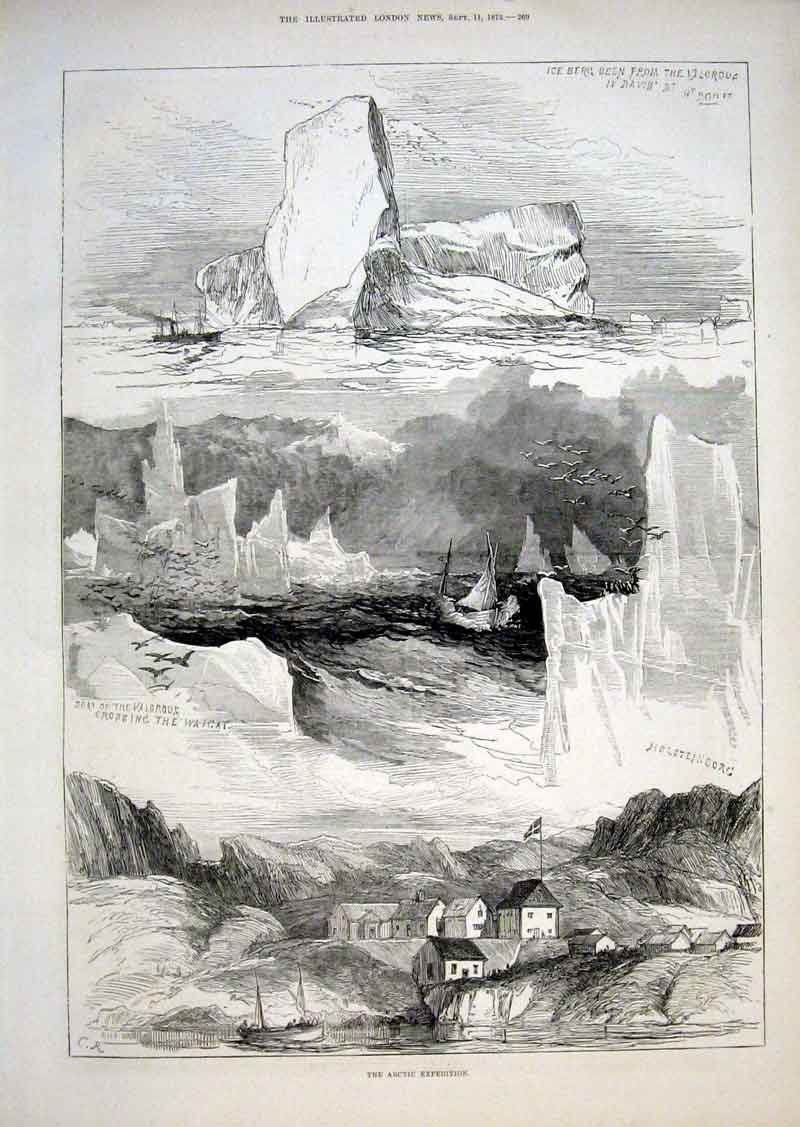 Print Scenes Artic Expedition 1875 69Aaa1 Old Original