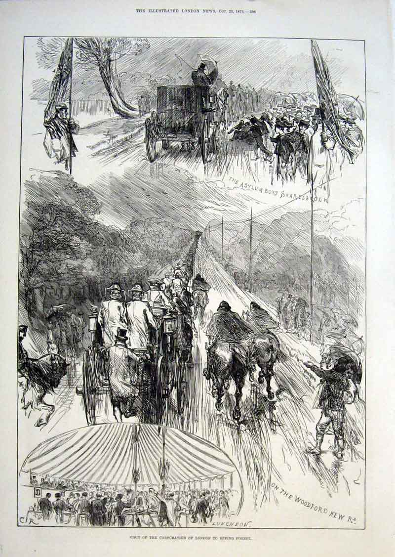 Print London Corporation Visits Epping Forest 1875 96Aaa1 Old Original