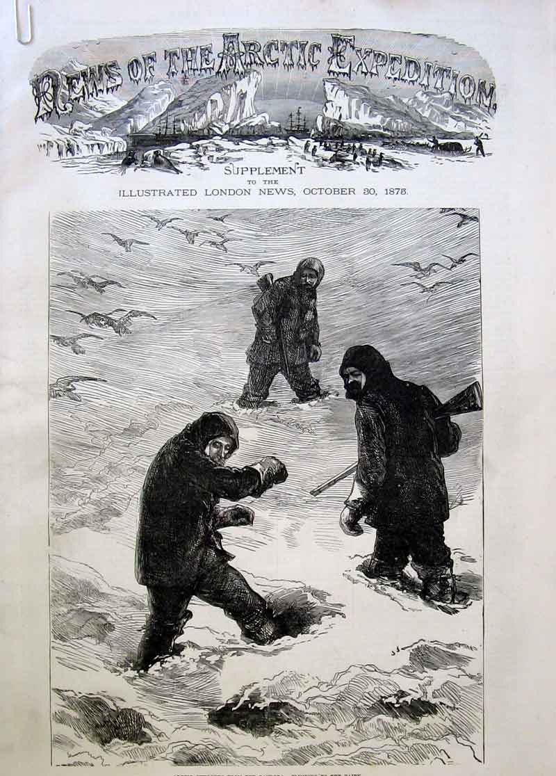 Print La Roquette Cape Desolation Blanley Bay Artic Sketch 36Aaaa1 Old Original
