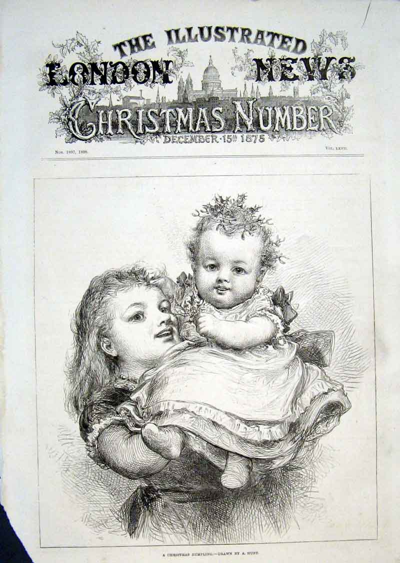Print A Christmas Dumbling By Hunt Fine Art 1875 52Aaa1 Old Original