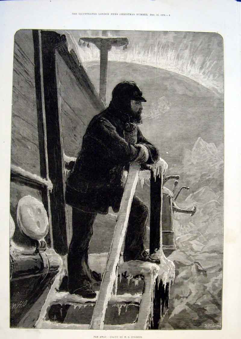 Print In The Ice Far Away By Overend Fine Art 1875 55Aaa1 Old Original