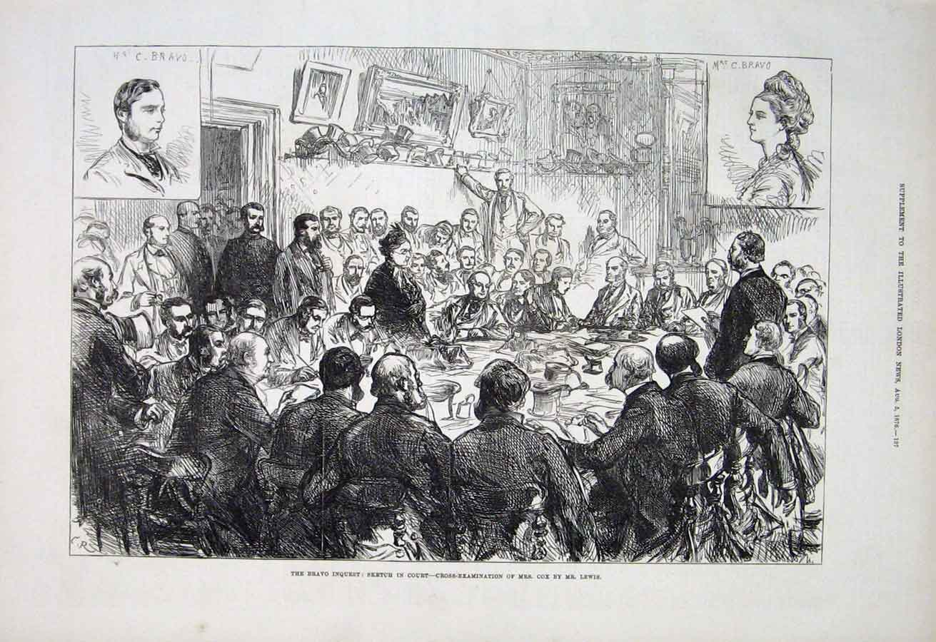 Print The Bravo Inquest Cross Examination Mrs Cox By Mr Lewi 37Aaa1 Old Original