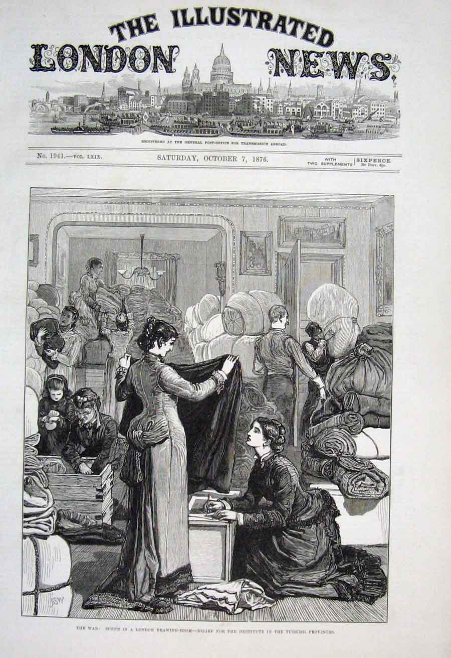 Print Relief For Turkish Provinces In London Drawing Room 187 30Aaa1 Old Original