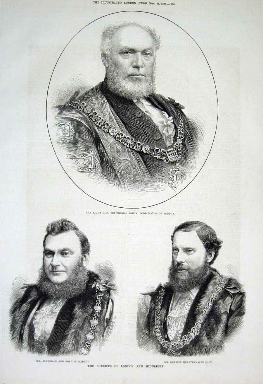Print Thomas White Hadley Quartermaine East 1876 Portraits 85Aaa1 Old Original