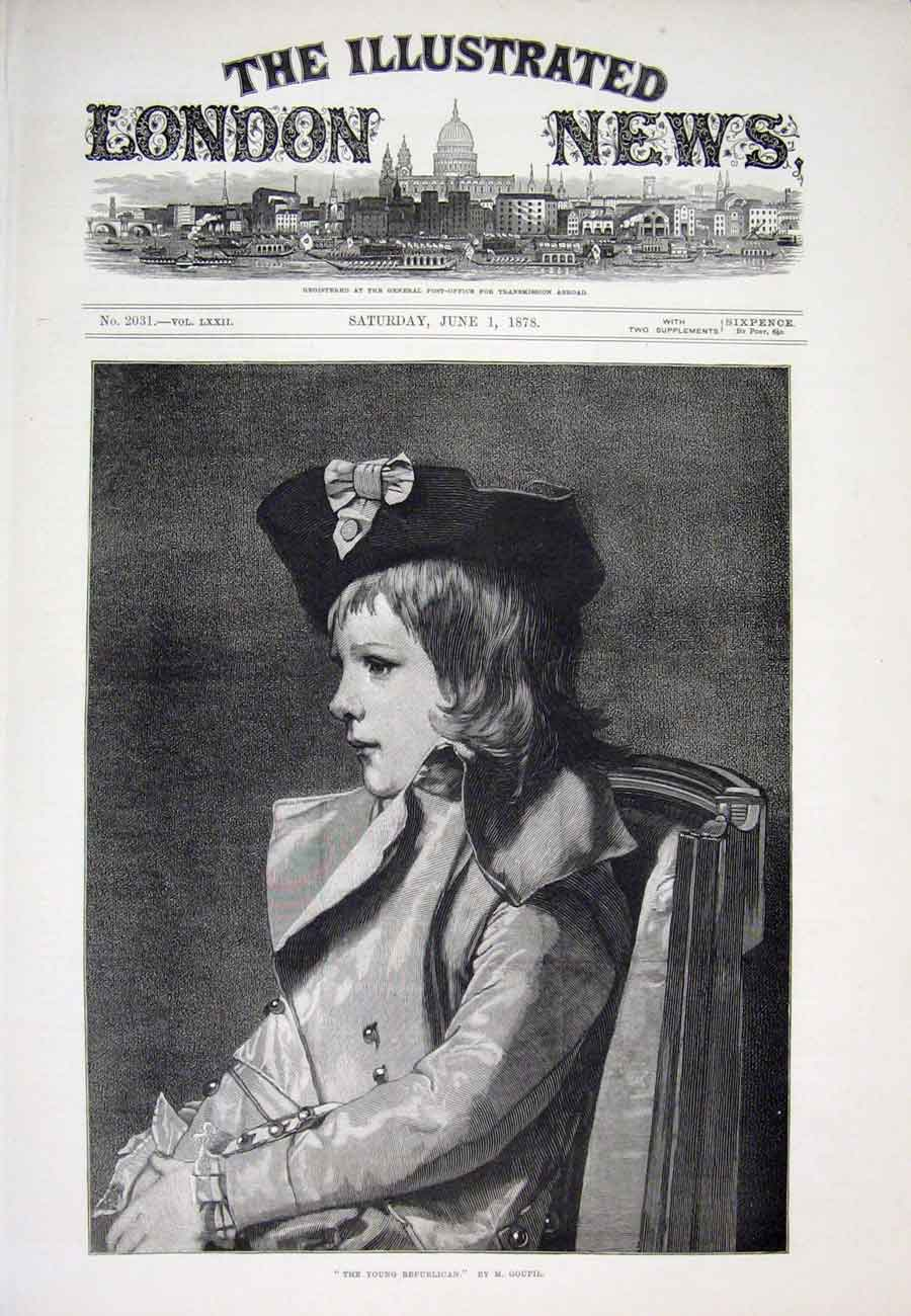Print Goupil Republican Boy Portrait 1878 98Aaa1 Old Original