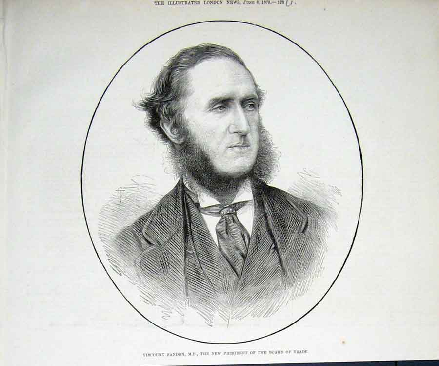 Print Sandon Portrait Mp Trade President 1878 25Uaaa1 Old Original