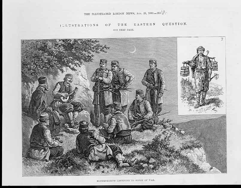 Print Mkontenegrians Listening Songs War 188 13Uaaa1 Old Original
