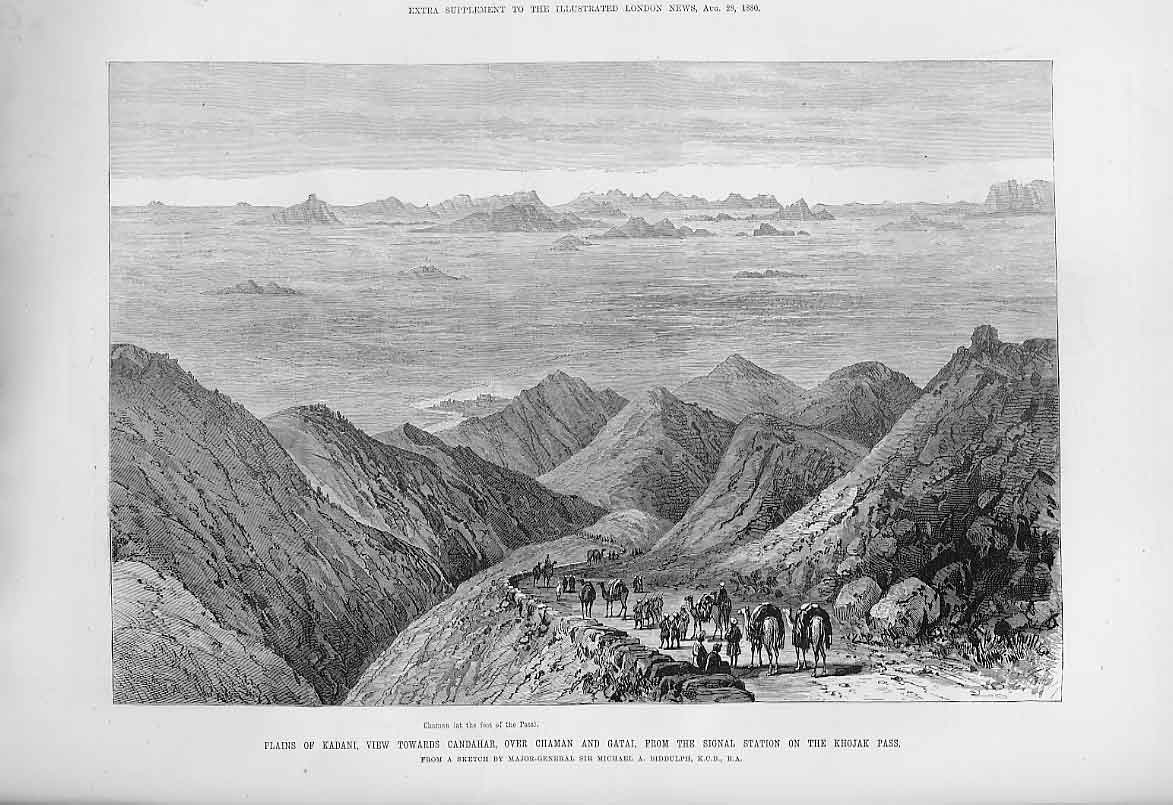 Print Plains Kandani Towards Candhar 1880 22Aaa1 Old Original