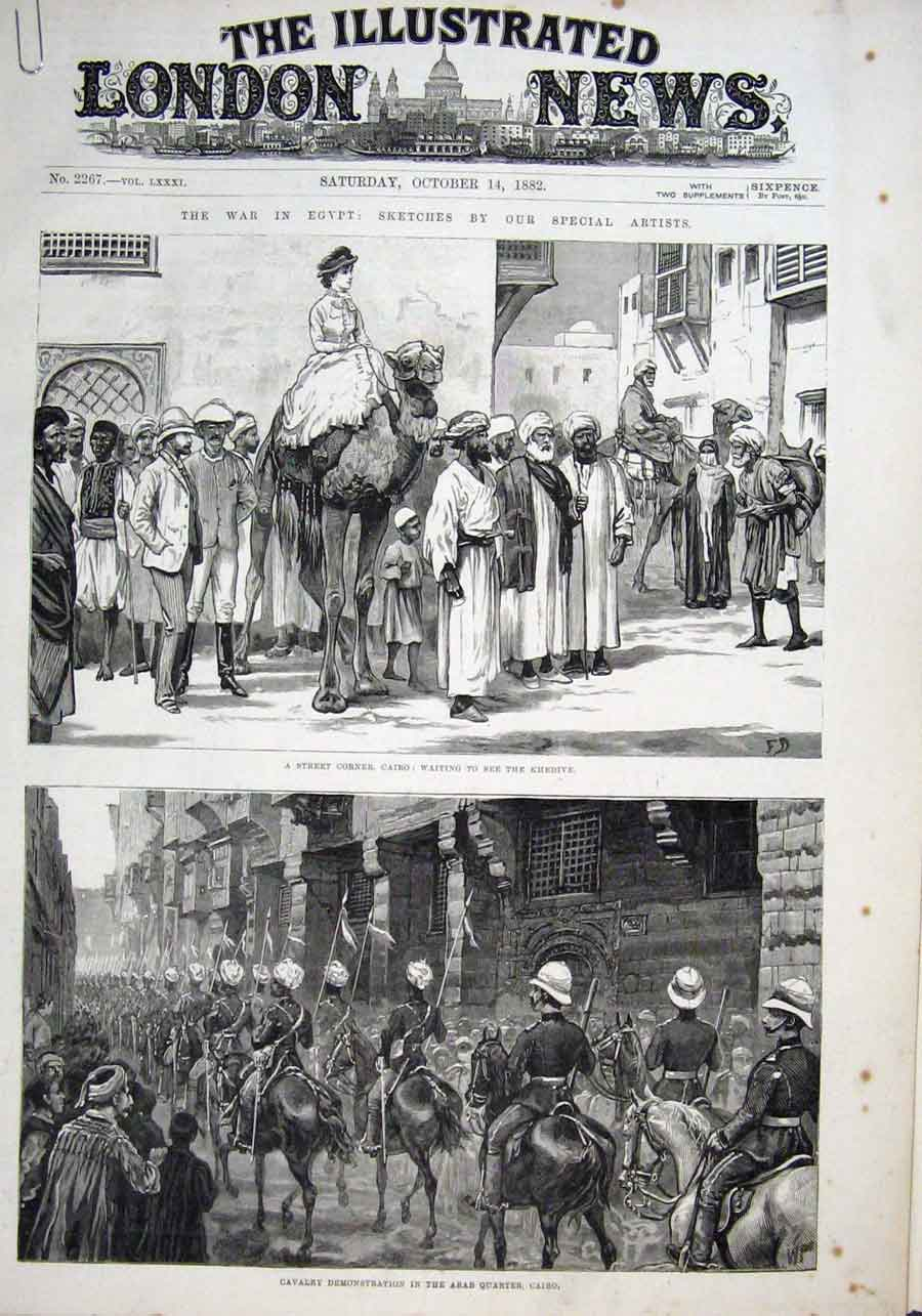 Print Waiting To See Khedive Cavalry In Arab Quarter Cairo 1 93Aaaa1 Old Original