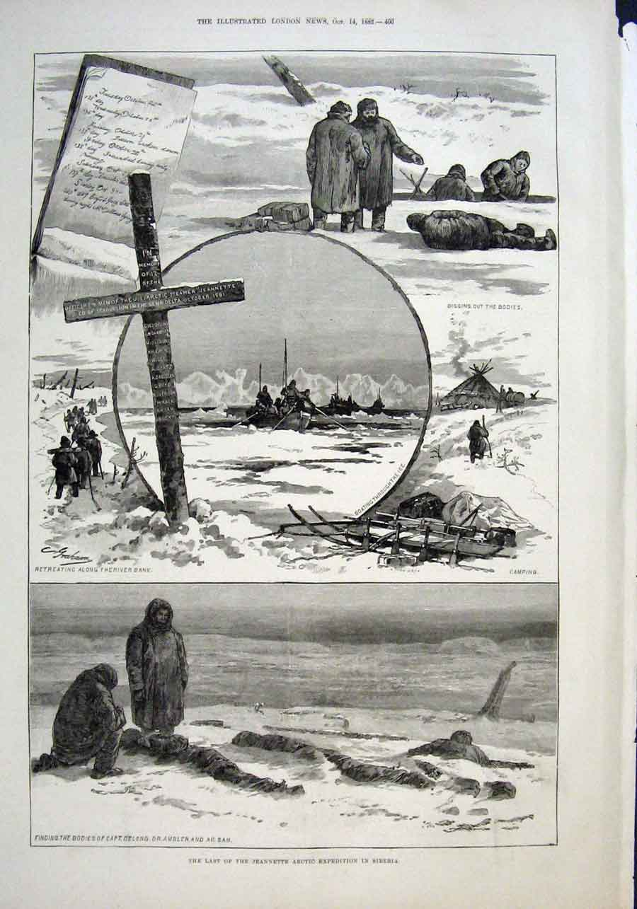 Print The Last Jeannette Exped In Siberia 1882 00Aaa1 Old Original