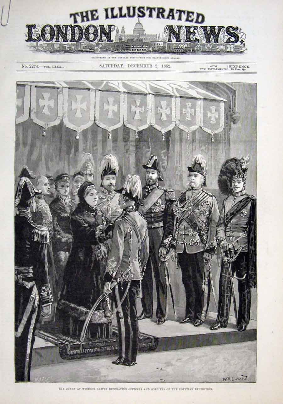 Print Queen Victoria Decorates Men Egyptian Expedition 188 61Aaaa1 Old Original