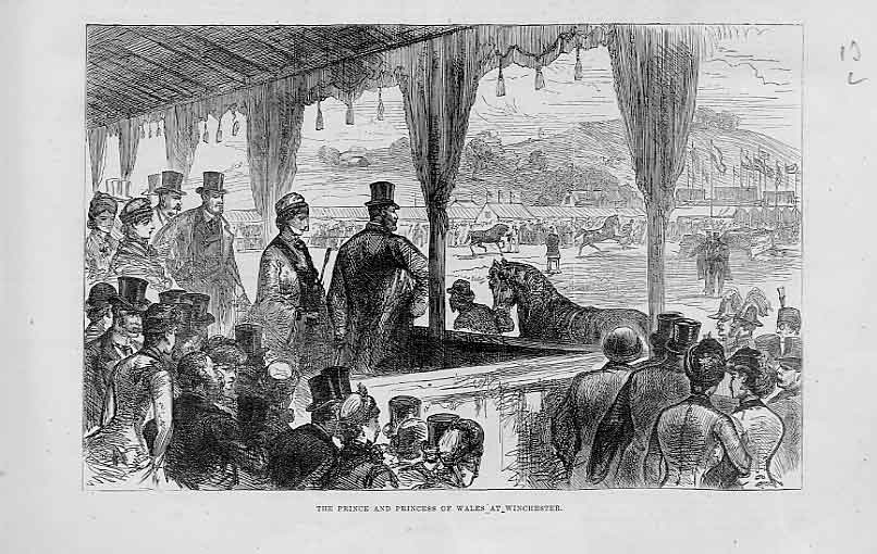 Print Winchester Horse Show 1883 Royal Visitors 13Laaa1 Old Original