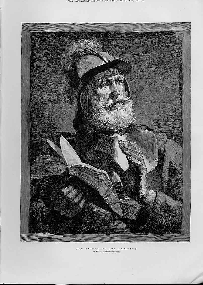Print The Father The Regiment By Knowles 188 25Aaa1 Old Original