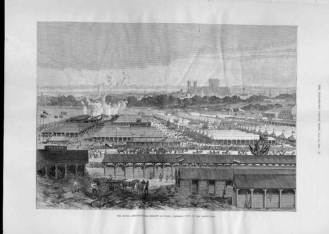 Print View York Minister And Show Ground 1883 45Aaa1 Old Original