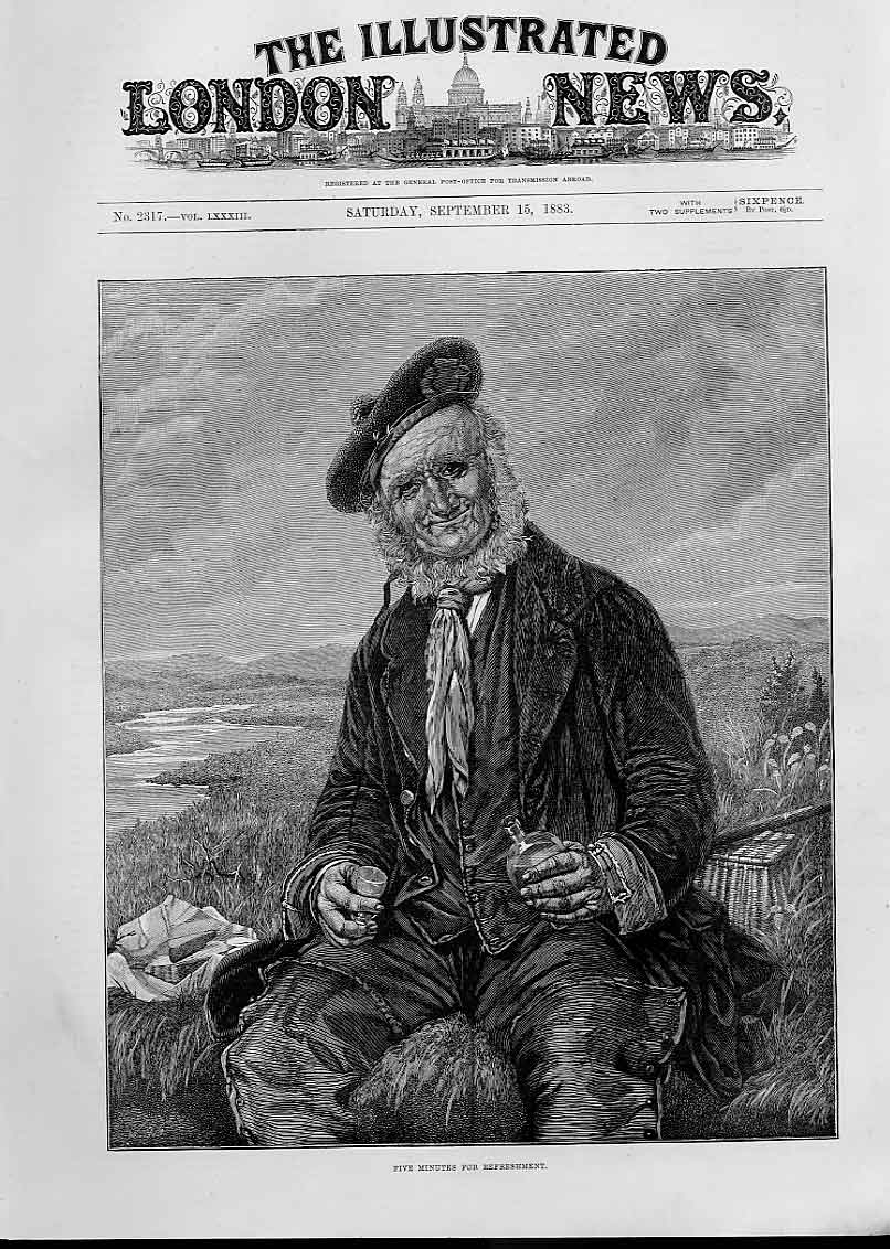 Print A Wee Dram For The Highland Ghillie 1883 50Aaa1 Old Original