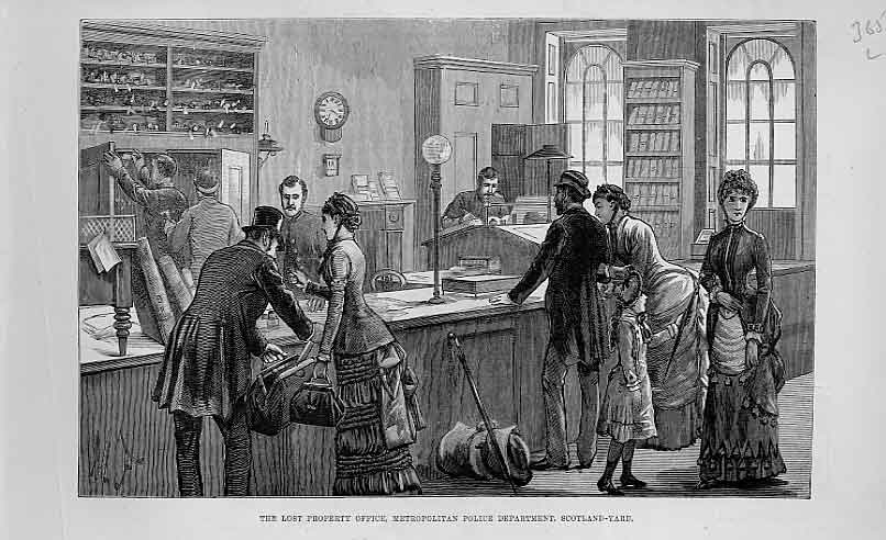 Print Lost Property Office Scotland Yard 1883 65Laaa1 Old Original