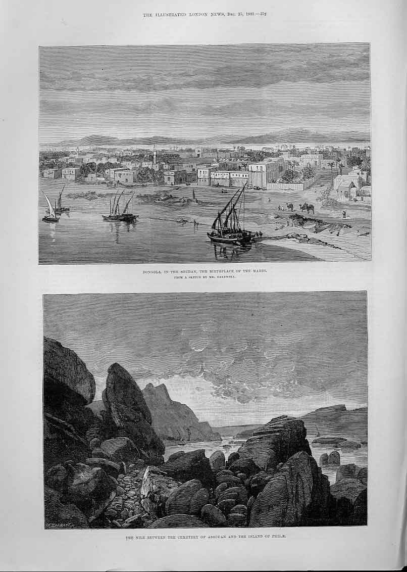 Print Dongola Birthplace Mahdi 1883 72Aaa1 Old Original