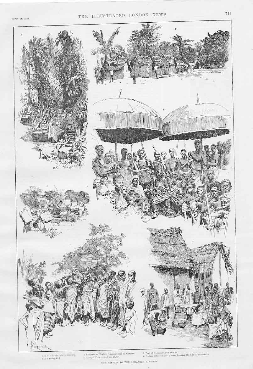 Print The Mission To The Ashantee Kingdom Africa 1888 11Aaa1 Old Original
