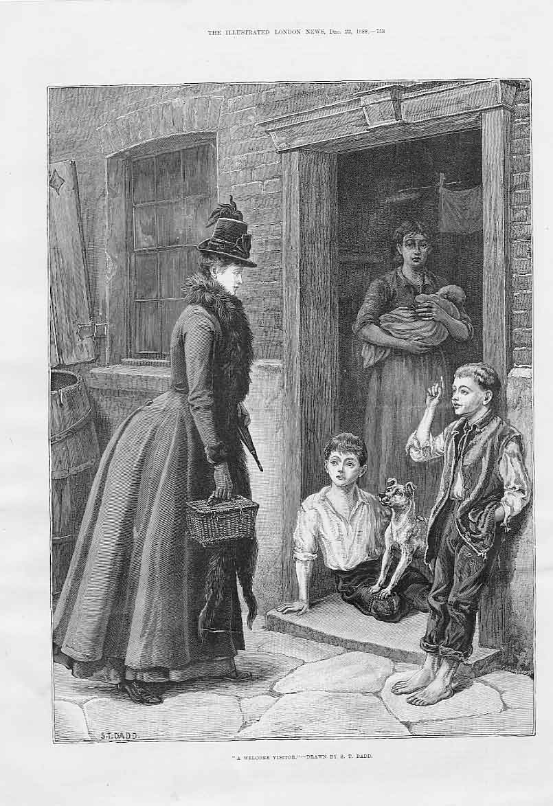 Print Welcome Visitor By Dadd Fine Art 1888 53Aaa1 Old Original