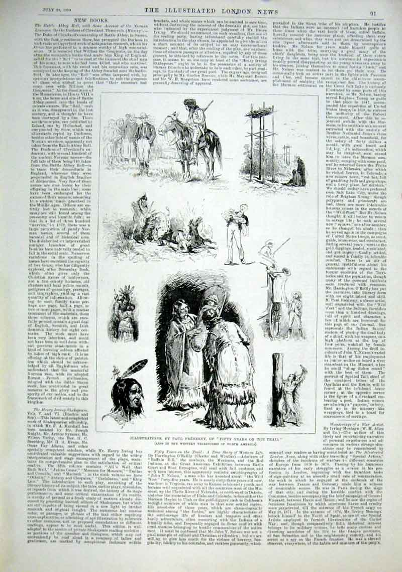 Print Illustrations By Paul Frenzeny Life N America 1889 91Aaa1 Old Original
