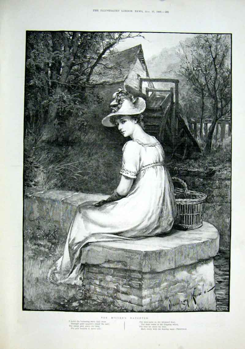 Print The Millers Daughter 1889 Fine Art 05Aaa1 Old Original