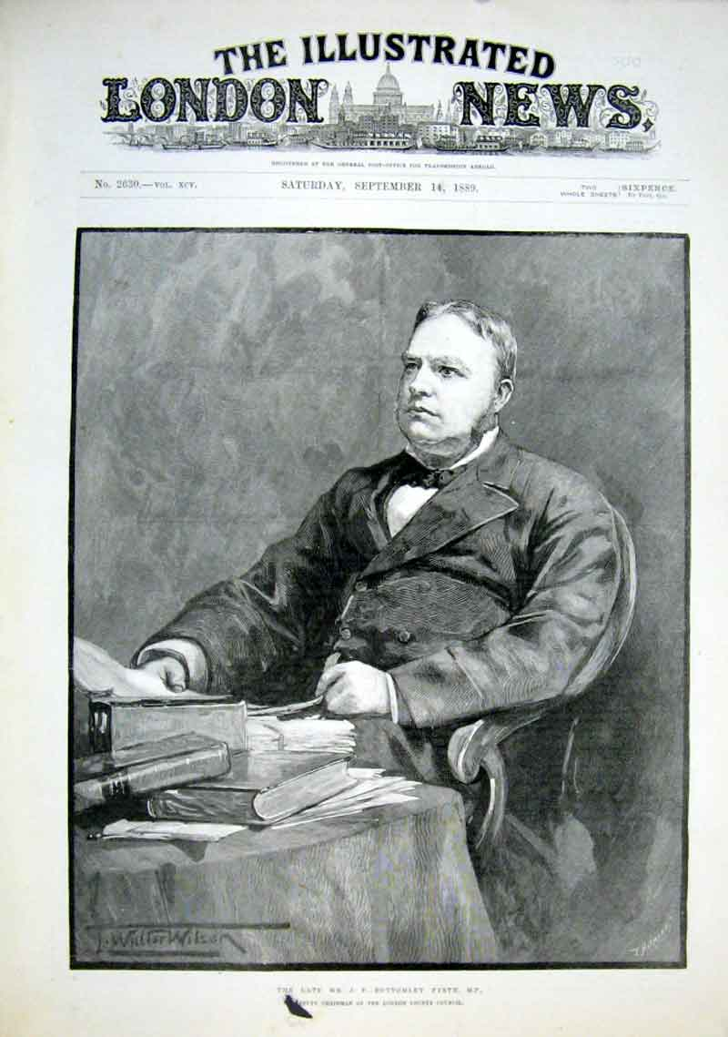 Print Bottomley Firth Mp 1889 Portrait 26Aaa1 Old Original