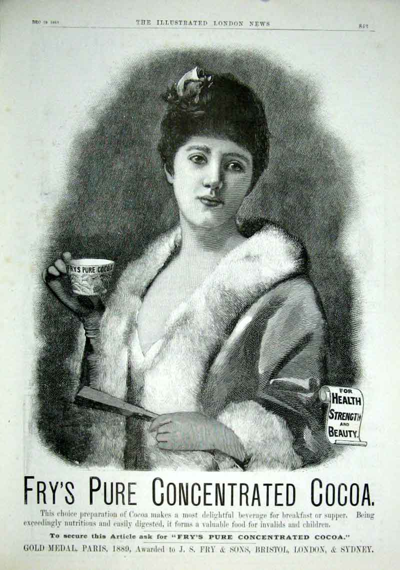 Print For Health & Strength Frys Cocoa1889 Advert 43Aaa1 Old Original